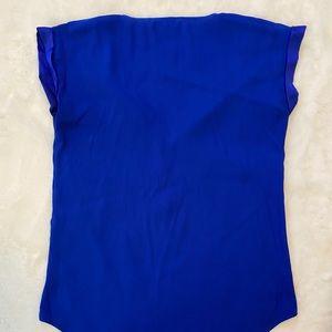 Express Tops - Express Royal Blue silky Blouse Top Shirt sz S